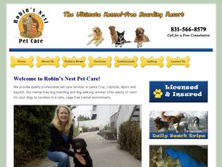 Robins Nest Pet Care Santa Cruz