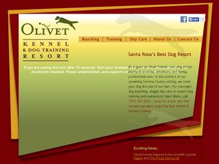 Olivet Kennel & Dog Training Santa Rosa