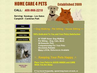 Home Care 4 Pets Saratoga