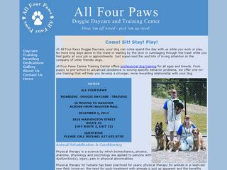 All Four Paws | Boarding