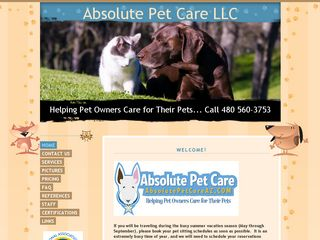 Absolute Pet Care LLC   Scottsdale Pet Sitting Scottsdale