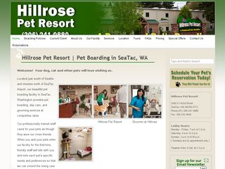 Hillrose Pet Resort Seatac