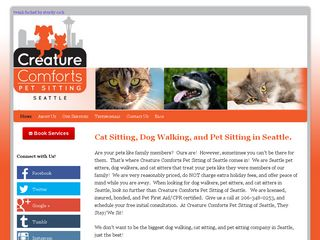 Creature Comforts Pet Sitting of Seattle | Boarding