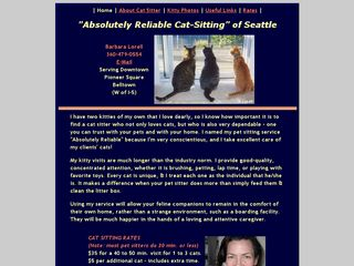 Absolutely Reliable Cat Sitting Seattle