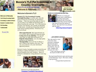 Bonnies TLC Pet Grooming | Boarding