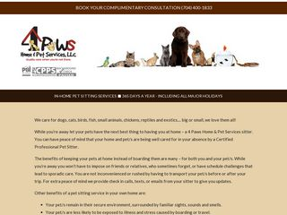 4 Paws Home Pet Services | Boarding