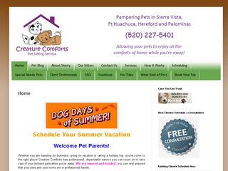 Creature Comforts Pet Sitting Service | Boarding