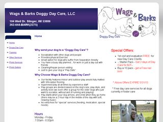Wags & Barks Doggy Day Care Slinger