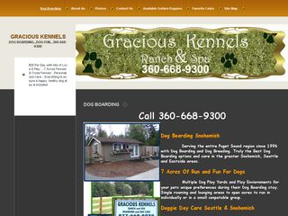 Gracious Kennels Ranch & Spa | Boarding