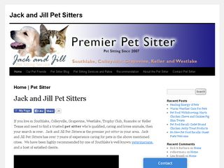 Jack and Jill Pet Sitters | Boarding