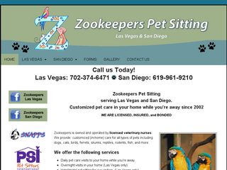 Zookeepers Pet Sitting   San Diego Spring Valley