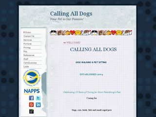 Calling All Dogs Dog Walking & Pet Sitting St Petersburg