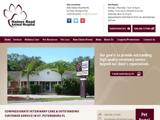 Haines Road Animal Hospital St Petersburg