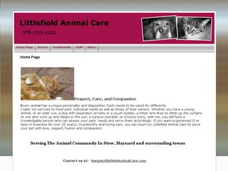 Littlefield Animal Care Pet Sitting Stow