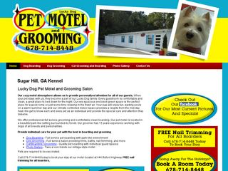 Lucky Dog Pet Motel & Grooming Salon | Boarding
