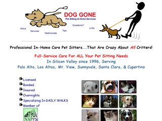 Dog Gone Pet Sitting   Home Sunnyvale
