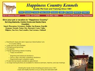 Happiness Country Kennels Sunol