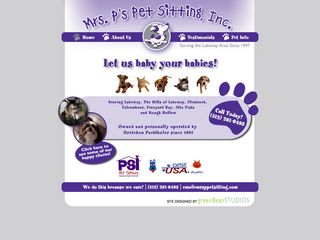 Mrs. Ps Pet Sitting Inc | Boarding