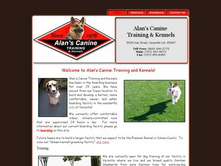 Alans Canine Training And Kennels Vacaville