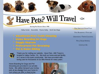 Have Pets Will Travel Valley Center