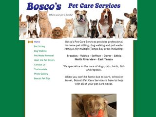 Boscos Pet Care Services Valrico