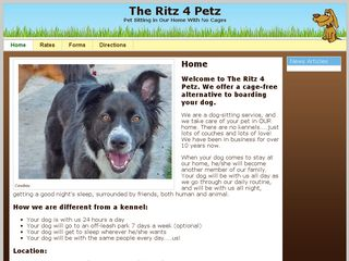 The Ritz4petz | Boarding
