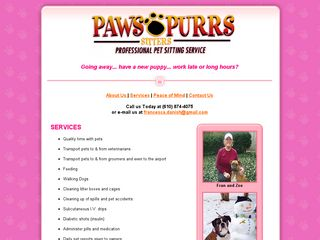 Paws and Purrs Sitters | Boarding