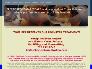 Walnut Creek Petcare Sitting  Walking Walnut Creek