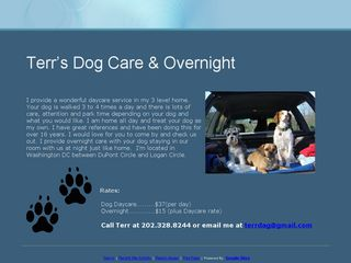 Terrs Dog Daycare  Overnight Washington
