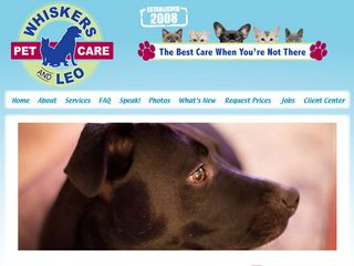 Whiskers and Leo Pet Care | Boarding