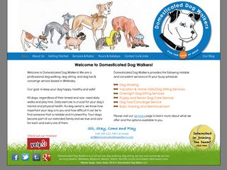 Domesticated Dog Walkers LLC | Boarding
