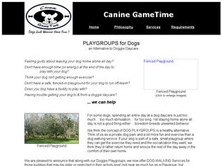 Canine Gametime LLC | Boarding