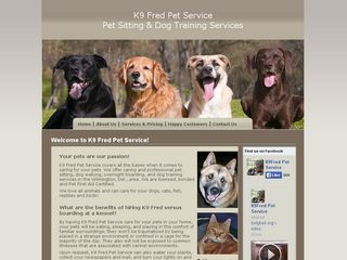 K9 Fred Pet Service Pet Sitting Dog Trainer Dog Walk | Boarding