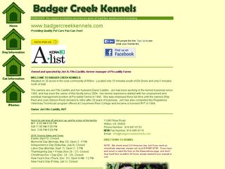 Badger Creek Kennels Wilton
