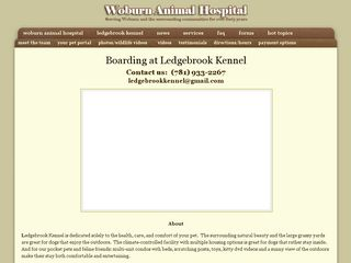 Ledgebrook Kennel | Boarding