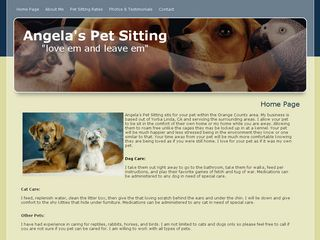 Angelas Pet Sitting Yorba Linda